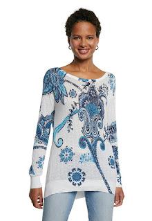 Дамски Пуловер с етно щампа - Desiqual