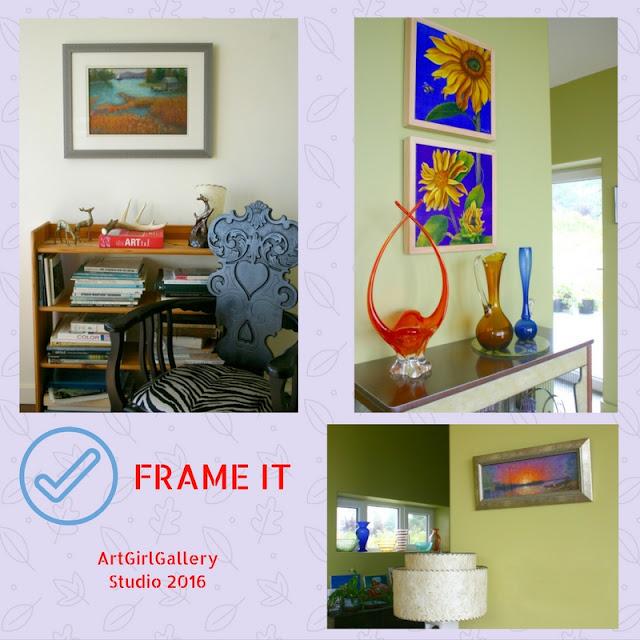 ArtGirlGallery customized framing services.