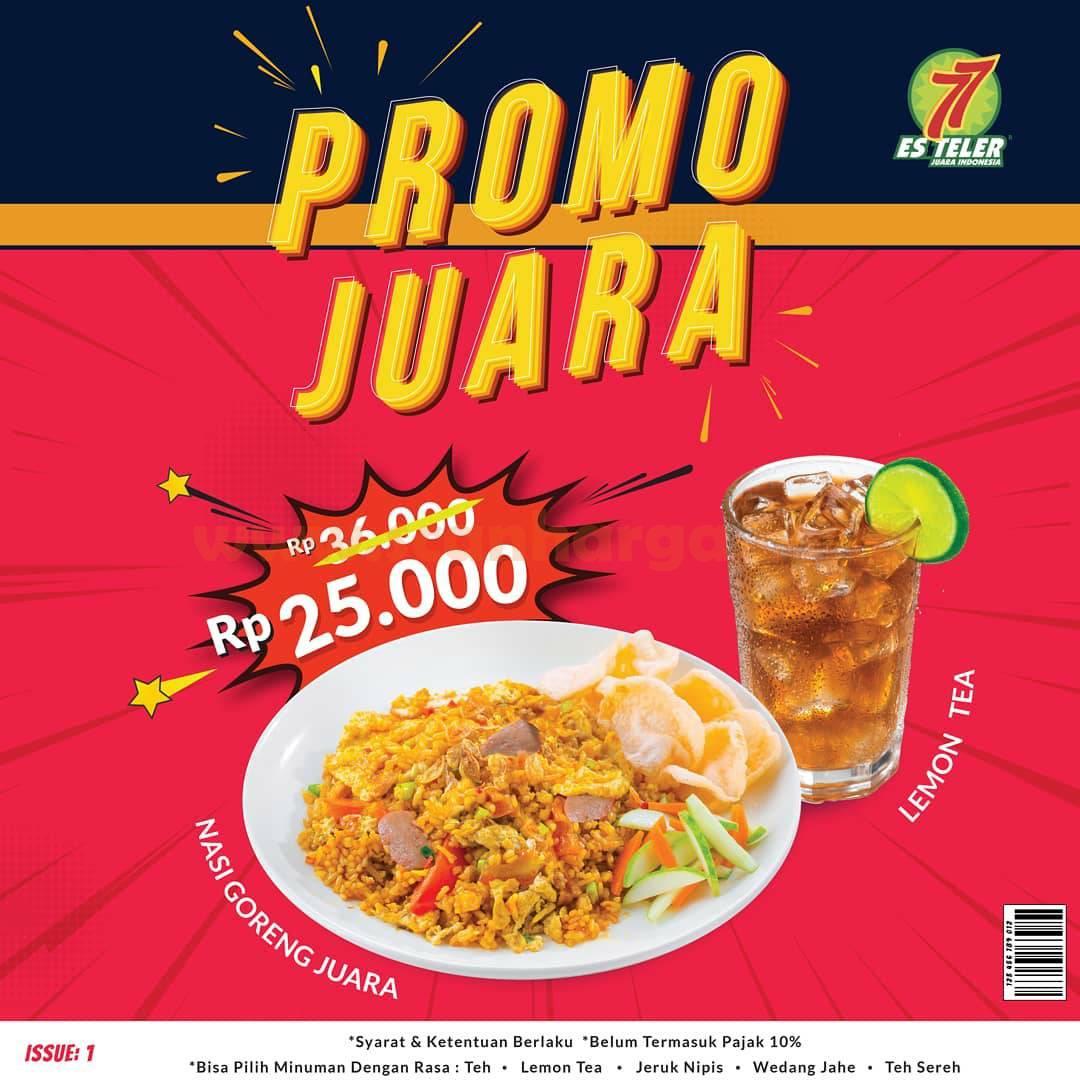 Promo JUARA Es Teler 77 ! Nasi Goreng atau Mie Goreng + Minuman cuma Rp. 25.000
