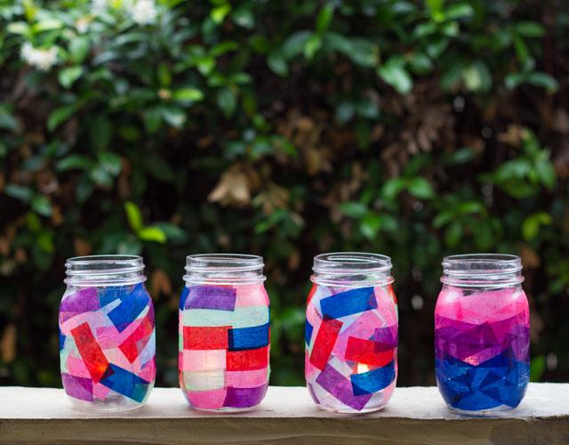 Tissue Paper Mason Jar Lanterns Design Improvised