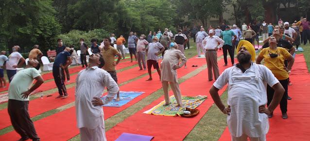 फरीदाबादजेड पार्क मेंमनाया गयाअंतरराष्ट्रीय योग दिवस, तन-मन-आत्मा को जोड़ता है योग