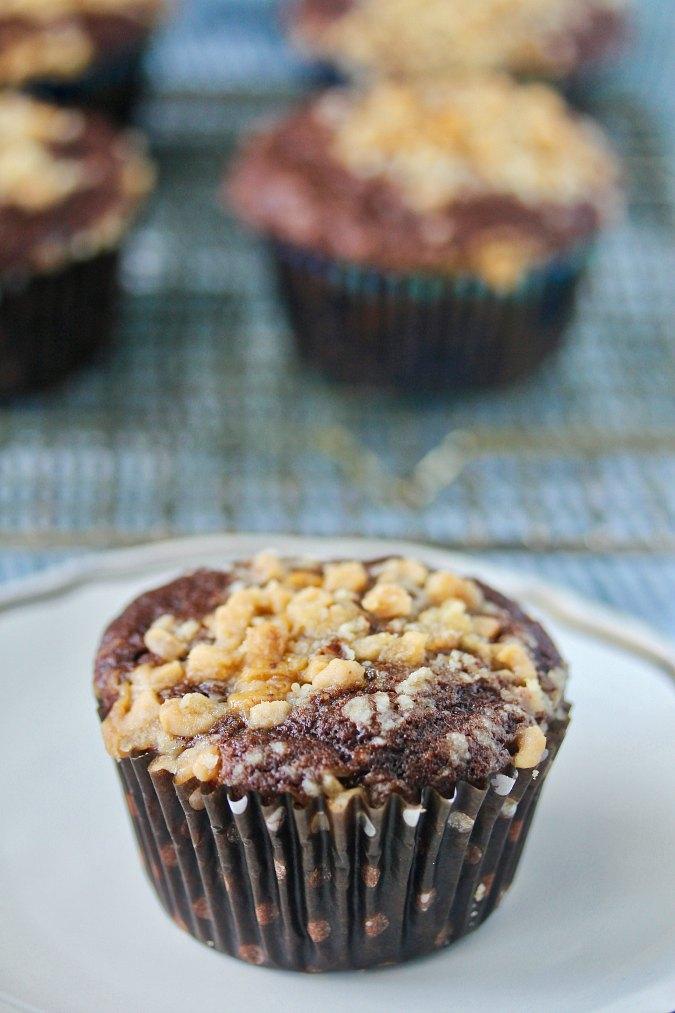 Toffee crunch muffins