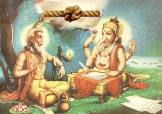 Vyasa inserted knots in his Mahabharat to slow slow down Ganesh who had the role of a scribe.