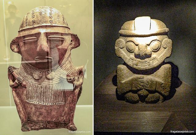 Esculturas em cerâmica das culturas Muísca e Zenú, Museu do Ouro de Bogotá