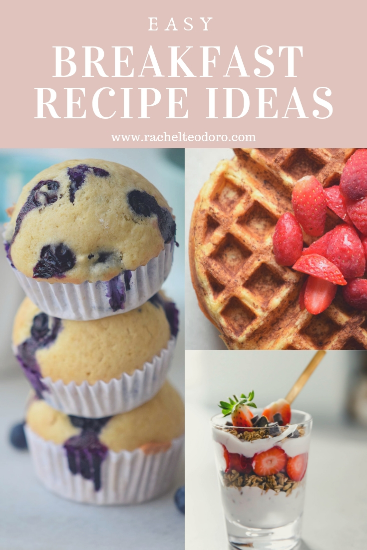 waffles, parfaits and blueberry muffins