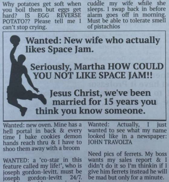 funny newspaper classifieds 4