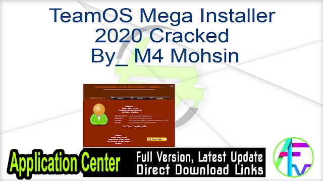TeamOS Mega Installer 2020 Cracked By_ M4 Mohsin