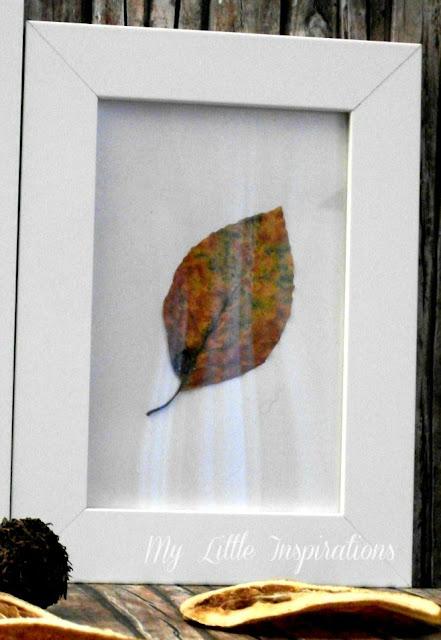 Quadretti con foglie secche d'autunno - foglia piccola - My Little Inspirations