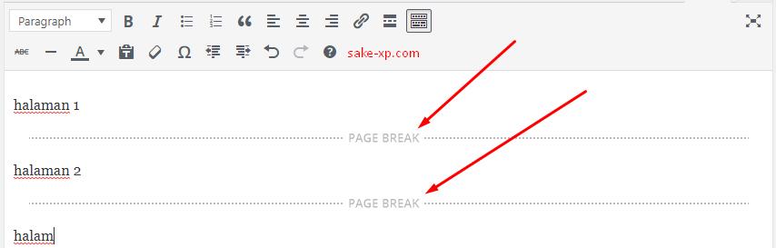 Cara Membagi Halaman Pada Postingan WordPress