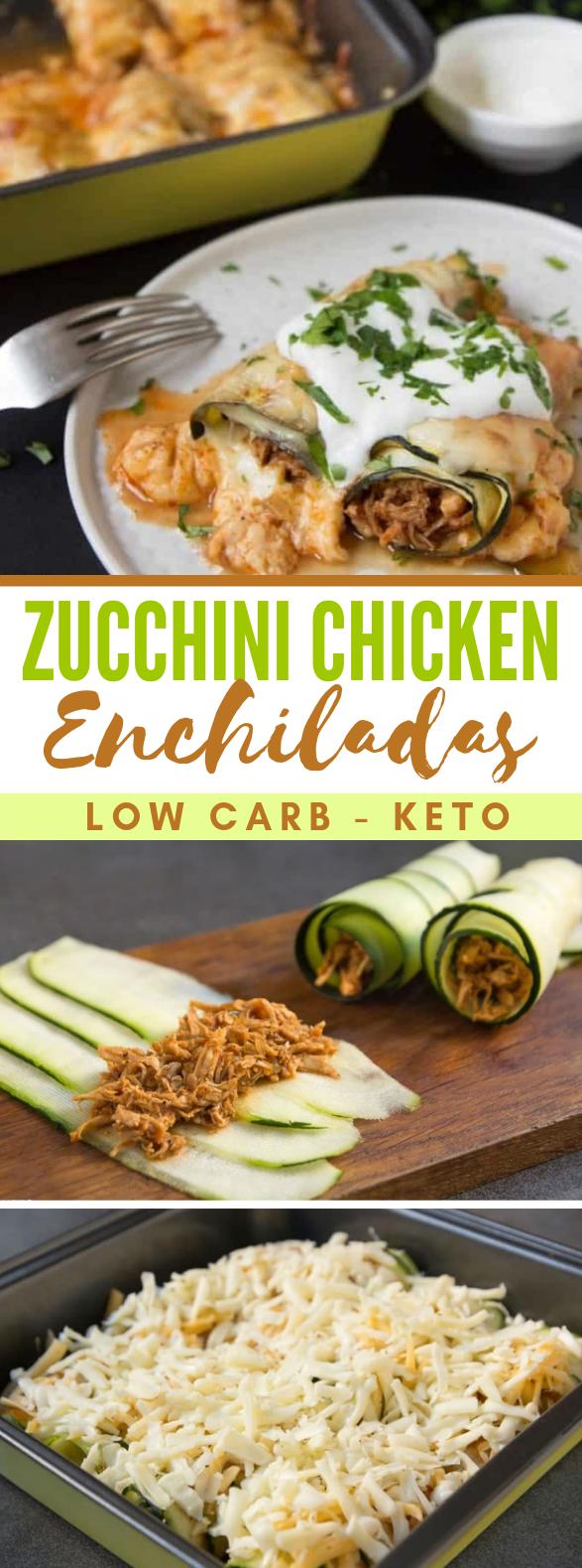 Keto Zucchini Chicken Enchiladas #mexicanfood #lowcarb