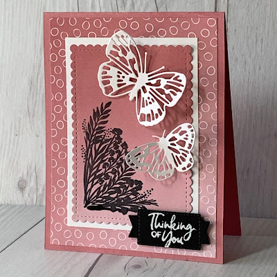 Butterfly greeting card using Stampin' Up! Butterfly Brilliance Bundle
