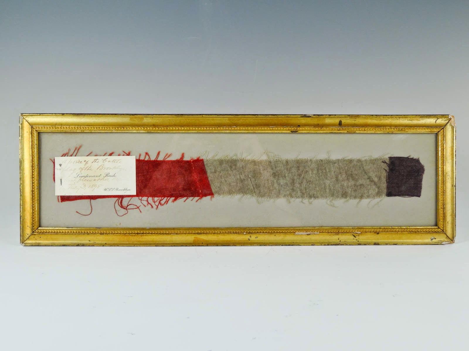 Spanish-American War battle flag remnant from the USS Brooklyn