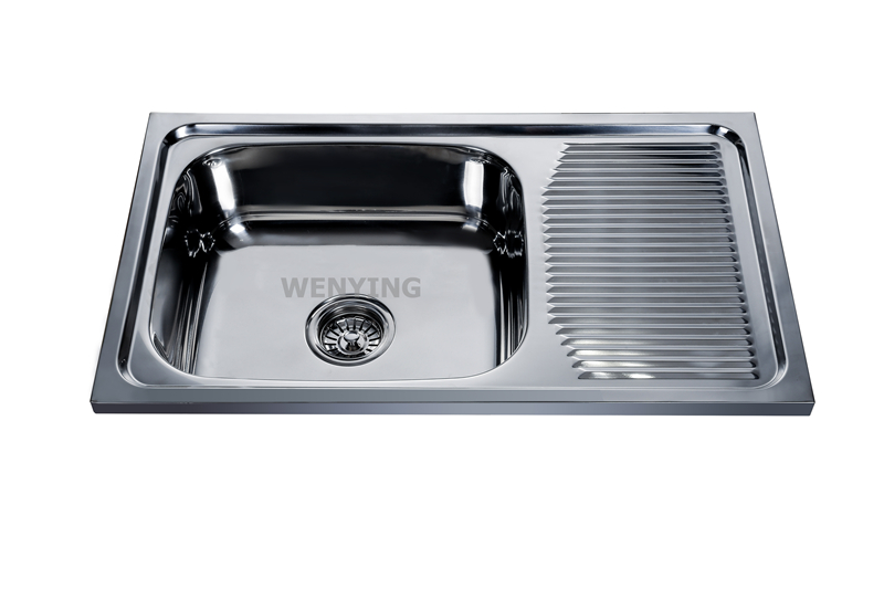 Stainless Steel Kitchen Sink Manufacturer Hot Selling Fashion Single Bowl Rose Gold Kitchen Sink With Low Price
