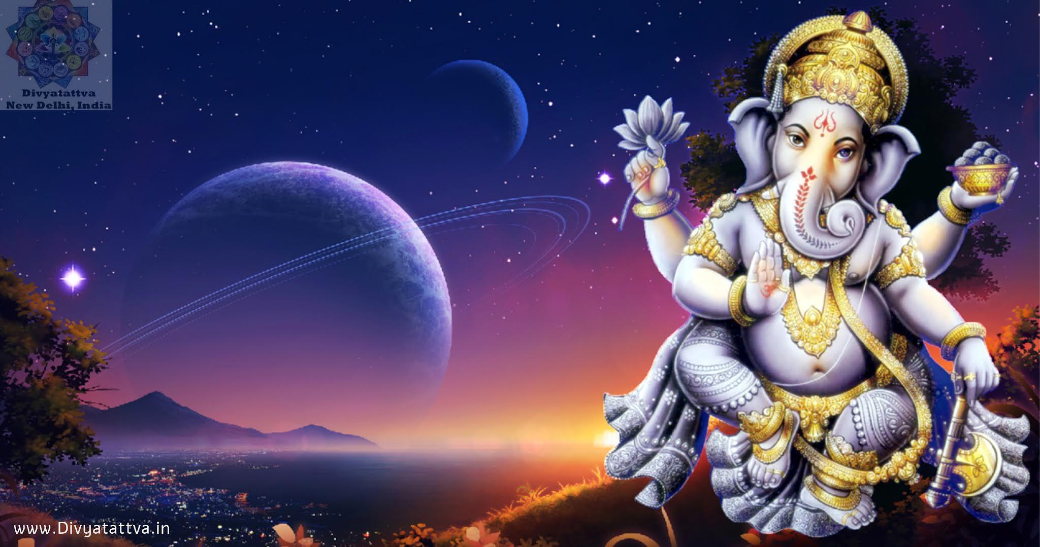 Lord Ganesha Mantras in Sanskrit Hindi For Wealth Prosperity