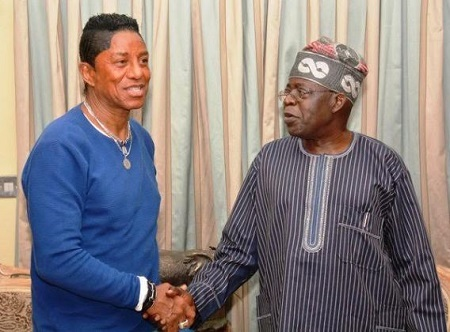 Michael Jackson's Older Brother Storms Lagos, Seen With Bola Tinubu in Ikoyi (Photos)