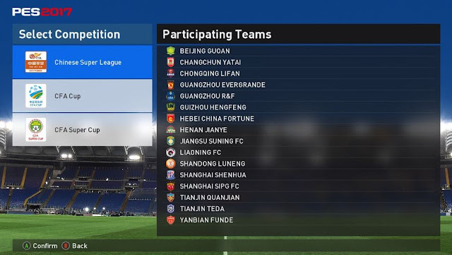 PES 2017 Addons Chinese Super League for PTE 5.0 by rizkyfz