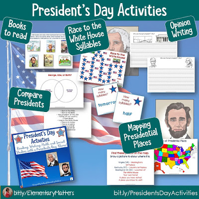 https://www.teacherspayteachers.com/Product/Presidents-Day-Activities-1041904?utm_source=blog%20post%20Feb%20resources&utm_campaign=Presidents%20day%20activities