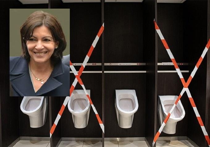 Paris : Les urinoirs écolos d'Anne Hidalgo fuient et inondent les trottoirs