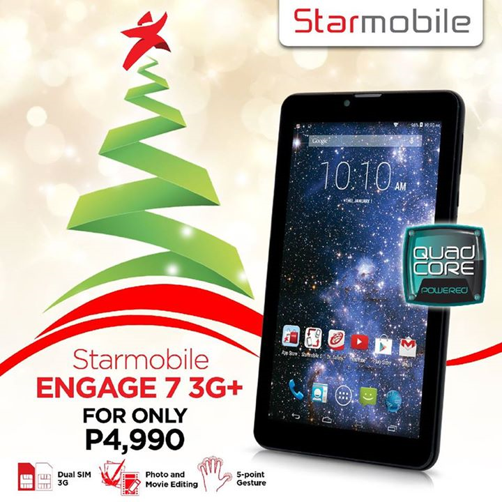 Starmobile Engage 7 3G+: Specs, Price and Availability
