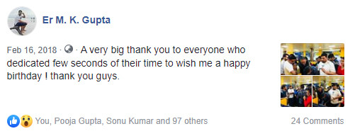 happy birthday reply back on facebook
