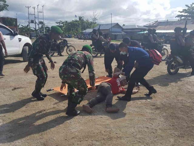 Jelang Pemilu 2019, TNI-Polri di Kabupaten Kepulauan Aru Gelar Simulasi Sispam Kota