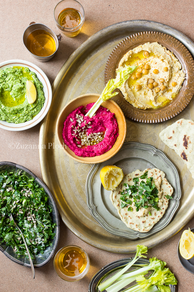 hummus party - food photography by Zuzanna Ploch, fotografia kulinarna