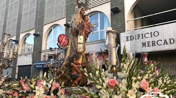 Horarios, Itinerarios de la Procesión de la de la Virgen del Carmen de Algeciras hoy día 16