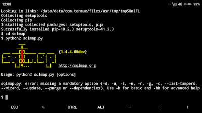 tutorial install sqlmap di termux