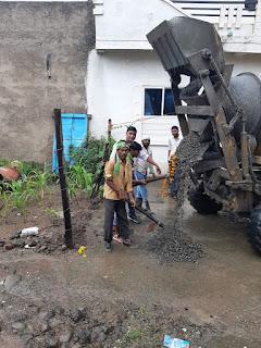 सागौर में 46 लाख के सीसी रोड का भूमि पूजन