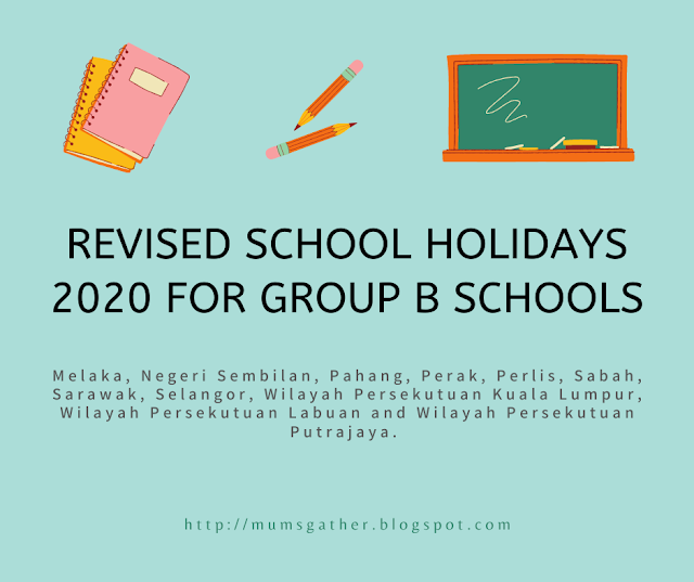 Revised School Holiday Calendar 2020 for Group B Schools