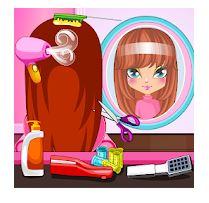permainan salon rambut dan kecantikan wajah
