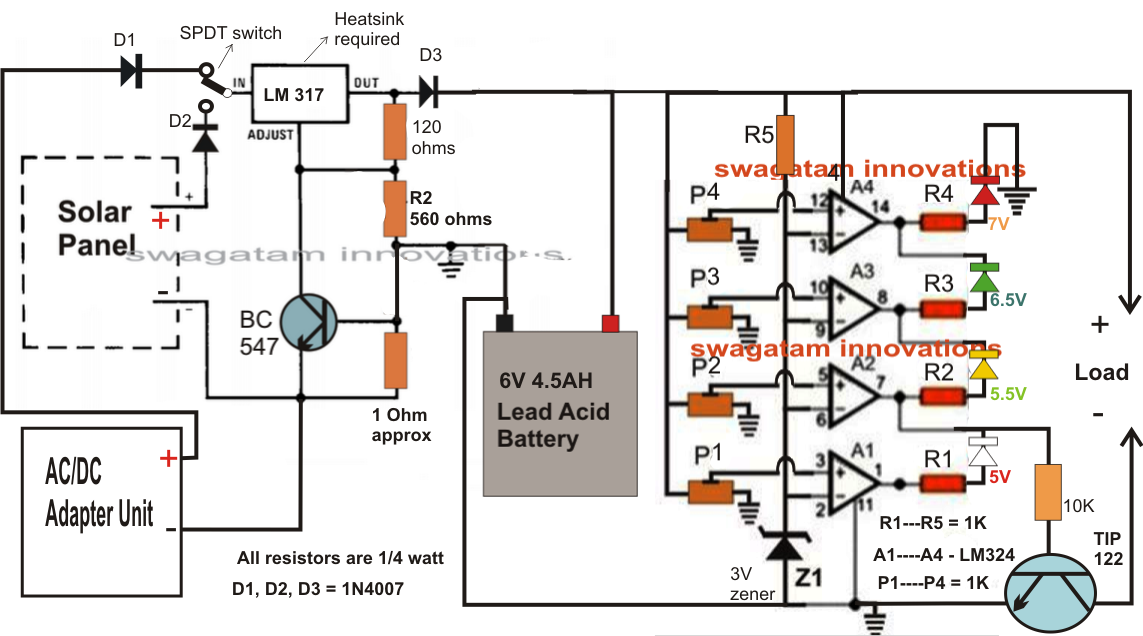 auto led indicator light wiring diagram electrical engineering world how to make 6v solar battery  electrical engineering world how to make 6v solar battery