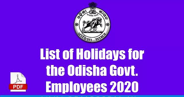 Odisha Govt School College Public holidays list 2021 - PublicHolidays.in