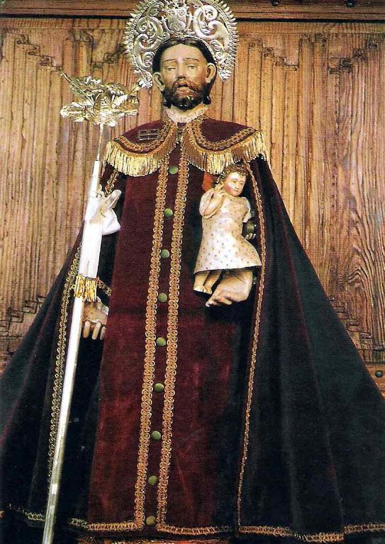 São José, dito El Parlero, narrava a Santa Teresa as faltas das freiras. De tanto falar falar ficou milagrosamente com a boca aberta, Mosteiro da Encarnacão, Ávila