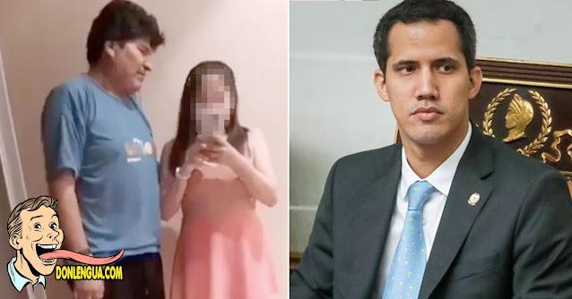 Evo picado con Guaidó por ser invitado a la toma de pose del socialista Arce