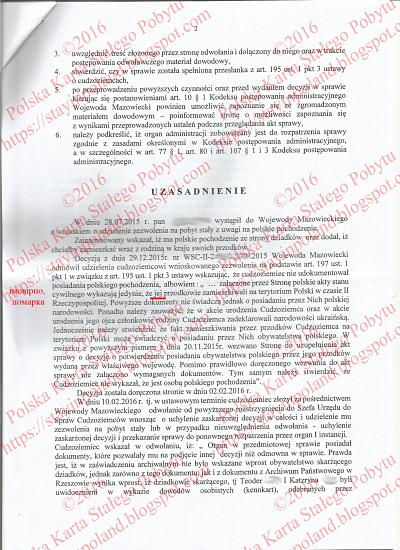 Karta Pobytu, Odwołanie, Decyzja, Przekierowanie Do I Instacji s.2