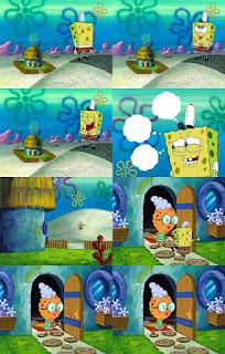 Polosan meme spongebob dan patrick 114 - spongebob pergi ke rumah nenek