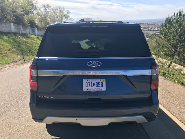 Rear view of 2020 Ford Expedition Platinum