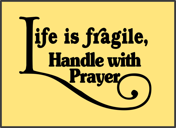 Thealliancetrader Design Blog: Life Is Fragile, Handle