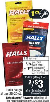 Halls Cough Drops CVS Deal $0.37 11-3-11-9