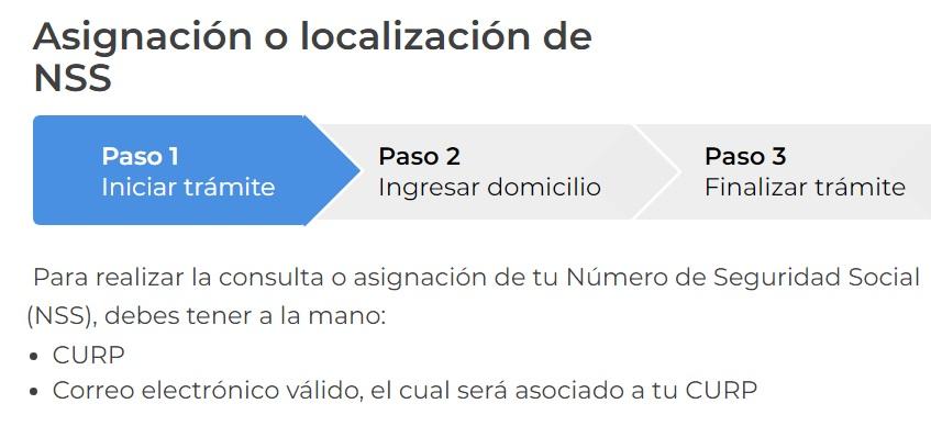 Asignacion o Localizacion de NSS