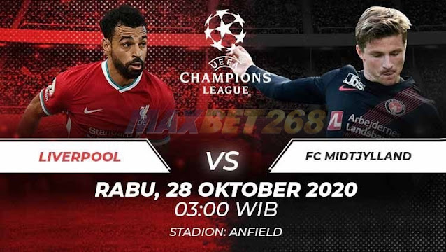 Prediksi Liverpool Vs Midtjylland, Rabu 28 Oktober 2020 Pukul 03.00 WIB