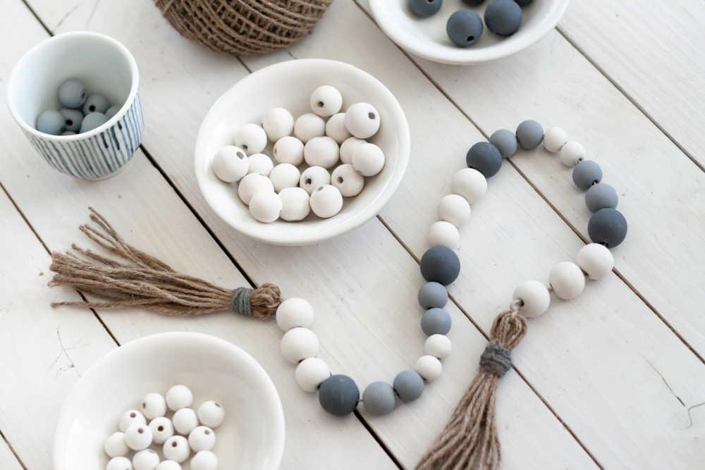 bead garland diy painted