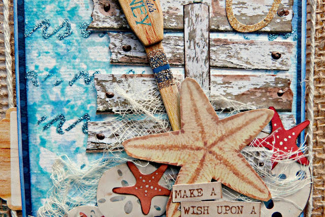 Wish Upon A Starfish Tracee Provis Bo Bunny mixed media off the page Boardwalk 03
