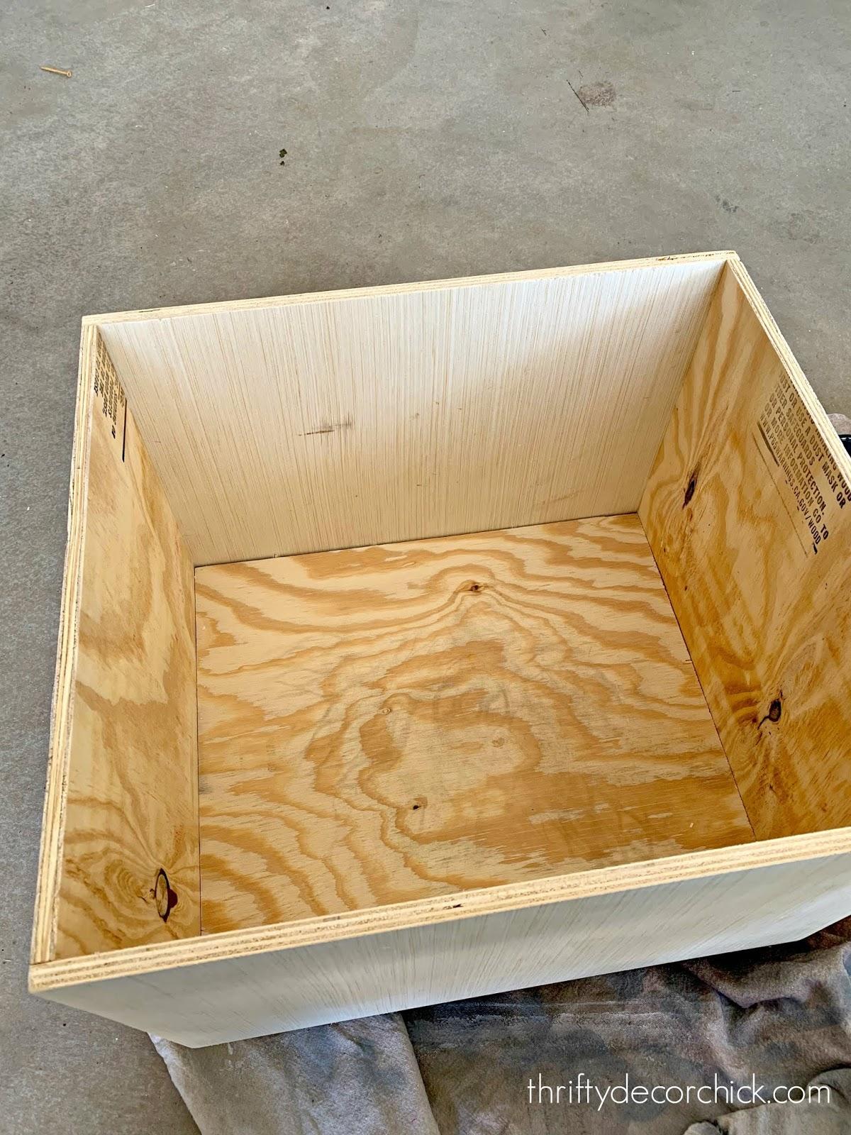 DIY sliding box for mud room shoes