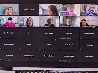 screen capture of School Budget Subcommittee meeting 6/17/20