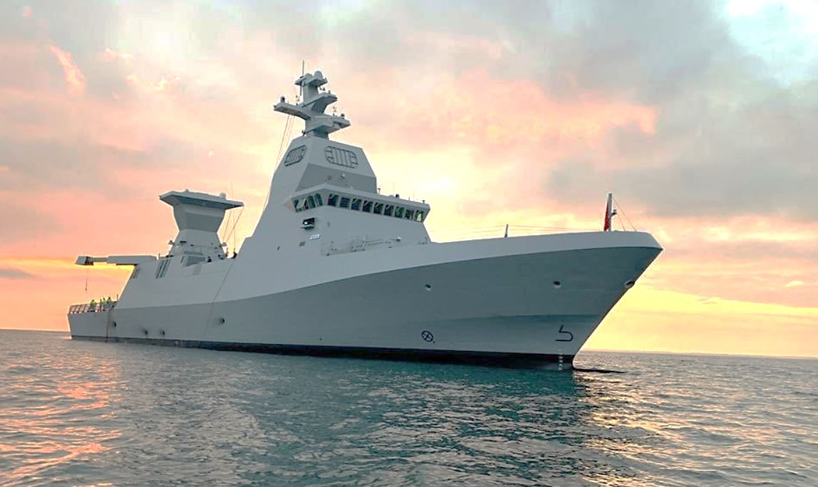 Warships with Israel's Iron Dome Missile System