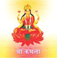 देवी कमला का स्वरूप साक्षात माँ लक्ष्मी से मिलता हैं in hindi, जीवन में धन in hindi, ऐश्वर्य, सुख और सम्पदा की मनोकामना पूरी करने के लिए माँ कमला की साधना की जाती है in hindi, यह कमल के पुष्प के समान दिव्यता का प्रतीक हैं in hindi, देवी धन और सौभाग्य की अधिष्ठात्री देवी हैं in hindi, दस विद्याओं में माँ कमला का दसवाँ स्थान है in hindi, माँ कमला पवित्रता in hindi, सम्मान, भाग्य और परोपकार की देवी है in hindi, इममें सभी दिव्य शक्तियाँ विद्ययामान है in hindi, माँ कमला पूजा-विधि से हर प्रकार से सुख-समृद्धि में वृद्धि होती है in hindi, तीनों लोकों में देवी की आराधना सभी के द्वारा की जाती हैं in hindi, दानव, देवता और मनुष्य सभी को देवी कृपा की आवश्यकता रहती है in hindi, दस महाविद्या  in hindi, दस महाविद्या काली in hindi,, तारा in hindi,, षोडषी in hindi,, भुवनेश्वरी in hindi, भैरवीin hindi, छिन्नमस्ता in hindi, धूमावती in hindi, बगला in hindi, मातंगी और कमला in hindi, गुण और प्रकृति के कारण in hindi, इन सारी महाविद्याओं को दो कुल-कालीकुल और श्रीकुल में बांटा जाता है in hindi, साधकों का अपनी रूचि और भक्ति के अनुसार किसी एक कुल की साधना में अग्रसर हों in hindi, ब्रह्मांड की सारी शक्तियों की स्रोत यही दस महाविद्या हैं in hindi, इन्हें शक्ति भी कहा जाता है। मान्यता है in hindi, कि शक्ति के बिना देवाधिदेव शिव भी शव के समान हो जाते हैं in hindi, भगवान विष्णु की शक्ति भी इन्हीं में निहित हैं in hindi, शक्ति की पूजा शिव के बिना अधूरी मानी जाती है in hindi, इसी तरह शक्ति के विष्णु रूप में भी दस अवतार माने गए हैं in hindi, किसी भी महाविद्या के पूजन के समय उनकी दाईं ओर शिव का पूजन ज्यादा कल्याणकारी होता है in hindi, अनुष्ठान या विशेष पूजन के समय इसे अनिवार्य माना जाता है in hindi, कमला जयंती महत्व in hindi,  दिवाली के दिन माँ कमला जयंती मनाई जाती है in hindi, इस दिन 10 महाविद्या में से एक देवी कमला in hindi, धरती पर अवतरित हुई थी in hindi, महाविद्या माँ कमला श्रीहरी विष्णु की साथी है in hindi, उनकी सबसे बड़ी ताकत है in hindi, देवी कमला का रूप in hindi, देवी लक्ष्मी के समान ही है in hindi, जो प्रसिद्धी in hindi, भाग्य in hindi,, धन की देवी है in hindi, धन in hindi, समृद्धि प्राप्त करन