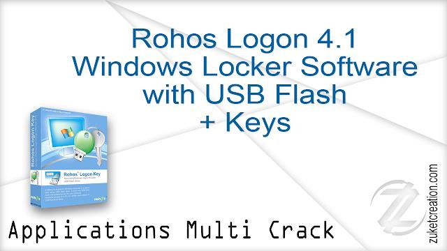 Rohos Logon 4.1 Windows Locker Software with USB Flash + Keys  |  13.0 MB
