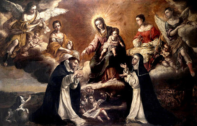 St. Dominic receiving the Rosary